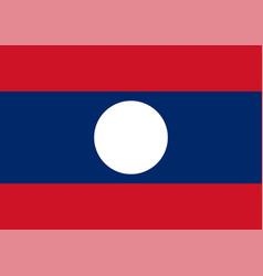 flag laos vector image