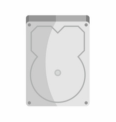 Flat hardware hard drive icon for repair service vector