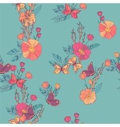 Floral Seamless Vintage Wildflowers Pattern vector