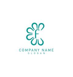 flower f logo vector image