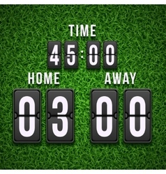 Football soccer scoreboard on grass background vector