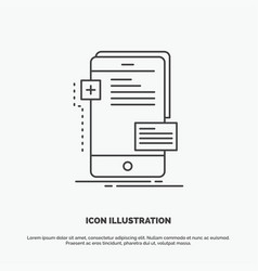 Frontend interface mobile phone developer icon vector