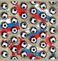 Geometric pattern of soccer balls vector