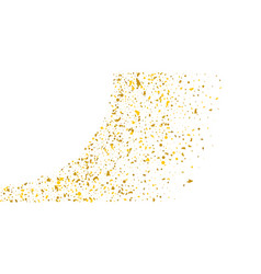 golden glitter confetti on a white background vector image