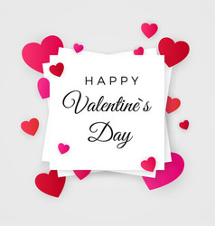 happy valentines day valentines day abstract vector image