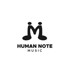 human note logo vector image
