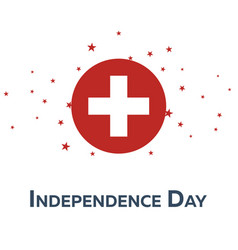 independence day of switzerland patriotic banner vector image