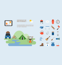 info graphic camping vector image