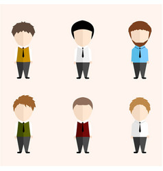 infographic cartoon cute man with good looking vector image
