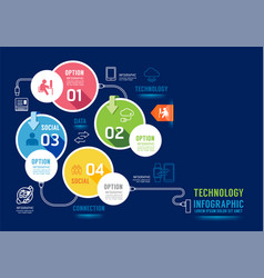 infographics technology concept design options vector image