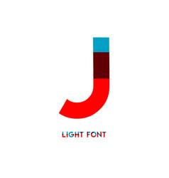 J light font template design vector