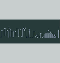 Jakarta single line skyline vector