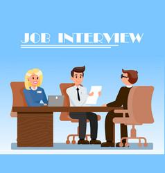 Job interview in office flat vector