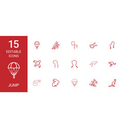 jump icons vector image