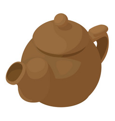 kettle brown icon isometric 3d style vector image