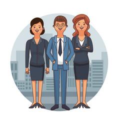 Lawyers team cartoon vector