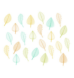 leafs decor vector image