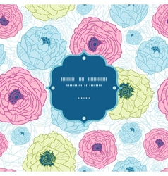 Lovely flowers frame seamless pattern background vector image