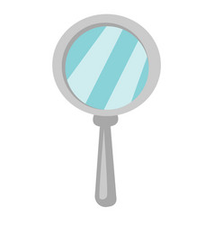 magnifying glass cartoon vector image