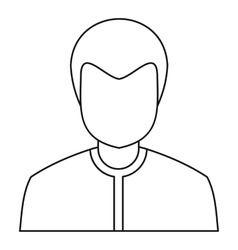 Male avatar icon outline style vector image