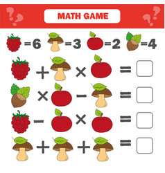 Mathematics worksheet for kids count educational vector