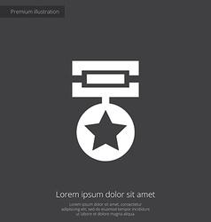 Medal premium icon vector