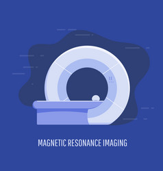 Medical magnetic resonance scan device vector