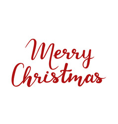 Merry christmas on white vector