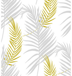 modern surface design delicate tropical branches vector image