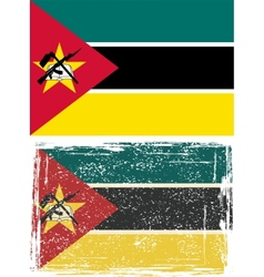 Mozambique grunge flag grunge effect can vector