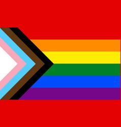 New lgbtq pride flag banner flag for lgbt lgbtq vector