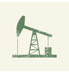 Oil derrick vintage vector