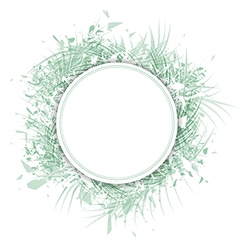 Palm Leaf Frame vector