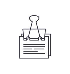 paper peg line icon concept paper peg vector image