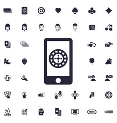 Phone game icon vector