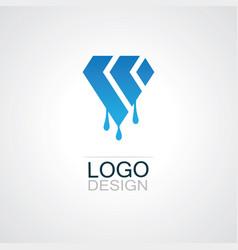 Polygon shape oil logo vector