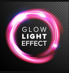 Red circles glow light effect energy line vector