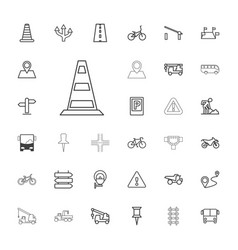 Road icons vector