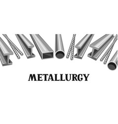 Rolled metal products banner vector