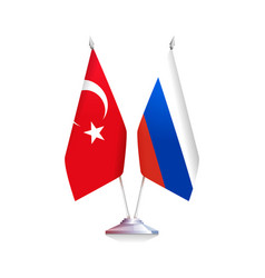 russian and turkish flags vector image