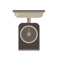 scale food icon weight balance tool isolated flat vector image