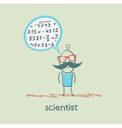 Scientist thinks about the formula vector