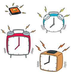 set of clock vector image