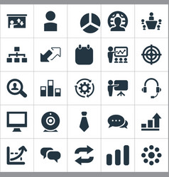 set of simple seminar icons vector image