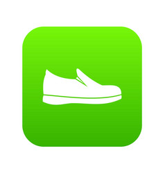 shoes icon digital green vector image