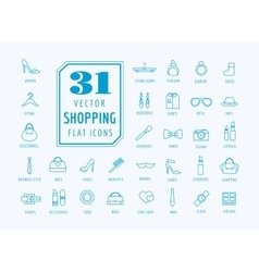 Shopping icons set Fashion symbols vector