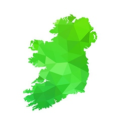 silhouette of Ireland on map vector image vector image