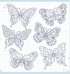 sketch icons set various decorative vector image