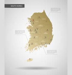stylized south korea map vector image