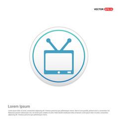 tv icon - white circle button vector image